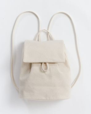 Canvas Mini Backpack, natural canvas